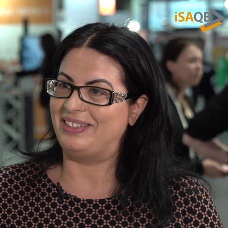 iSAQB member and chairwoman Mahbouba Gharbi
